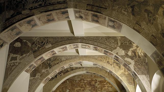 Parte del conjunto pictórico objeto del litigio, que se exhibe en el barcelonés MNAC