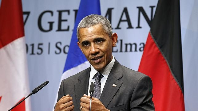 Obama comparece ante la prensa durante la cumbre del G-7