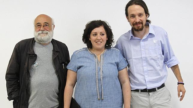 Pablo Iglesias, Estefanía Torres y Manuel Espinar