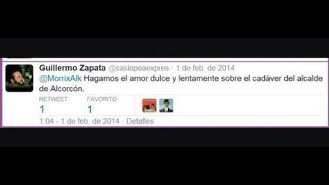 Tuit de Zapata cruzado con un candidato de «Ganar Alcorcón»