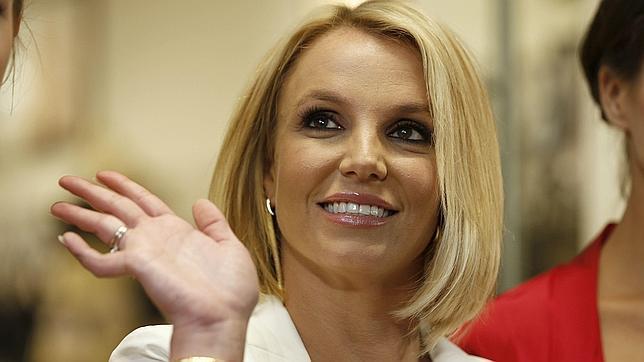 Spears en la presentación de su línea de ropa