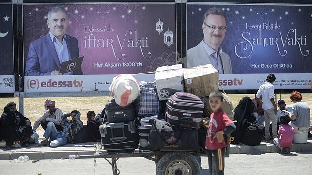 Refugiados sirios en la provincia de Sanliurfa