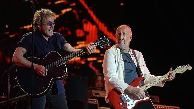 Roger Daltrey y Pete Towbshend en el concierto de The Who en Glastonbury