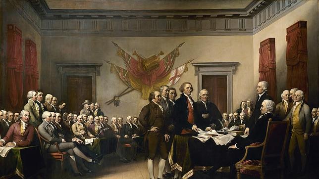 El cuadro de John Trumbull titulado «Declaración de independencia»