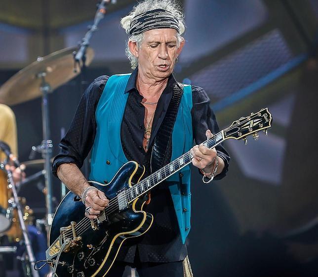 Keith Richards, en un concierto reciente de los Rolling Stones