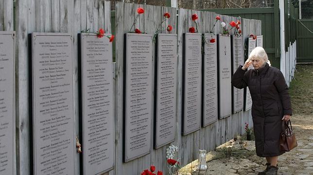 Lista de asesinados en las purgas estalinistas, en la ciudad de Bútovo