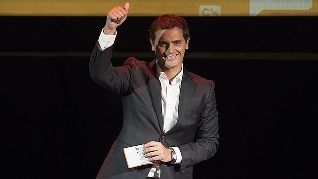Albert Rivera en el acto de presentación como candidato a la Presidencia de España