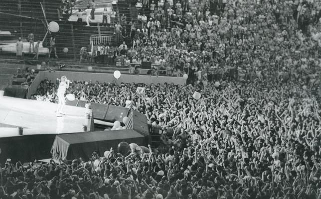 The Rolling Stones durante su actuación en Madrid