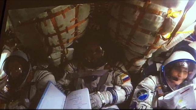 El aterrizaje de una nave Soyuz como nunca