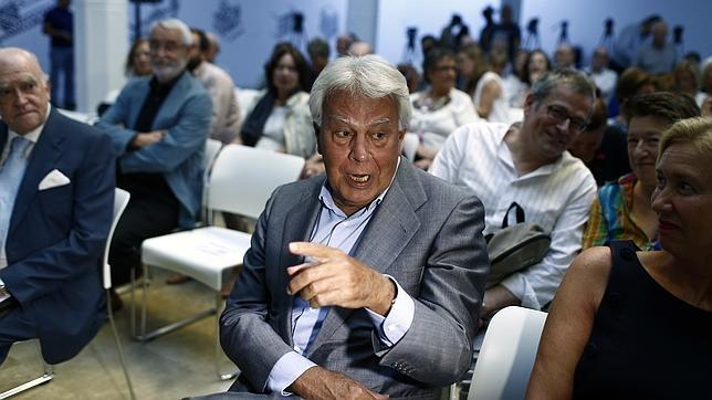 Felipe González este martes durante el acto en el que acusó a un diario de mentir