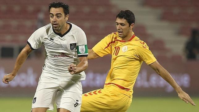 Xavi Hernández, con la camiseta del Al Saad