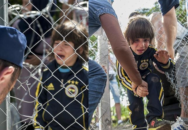 El llanto de una niña en el lado serbio llevó a varios agentes húngaros a ayudarla a pasar por un agujero