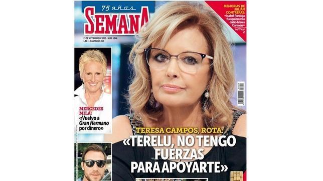 La portada del último número de «Semana»