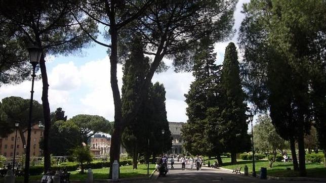 La ahora llamada plaza Martín Lutero, en Roma