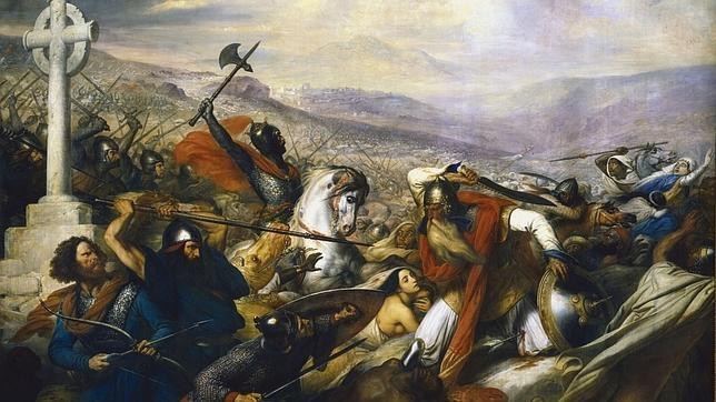 Lienzo «Bataille de Poitiers en octobre 732»