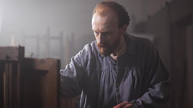 Jamie de Courcey, caracterizado como Van Gogh, en el documental
