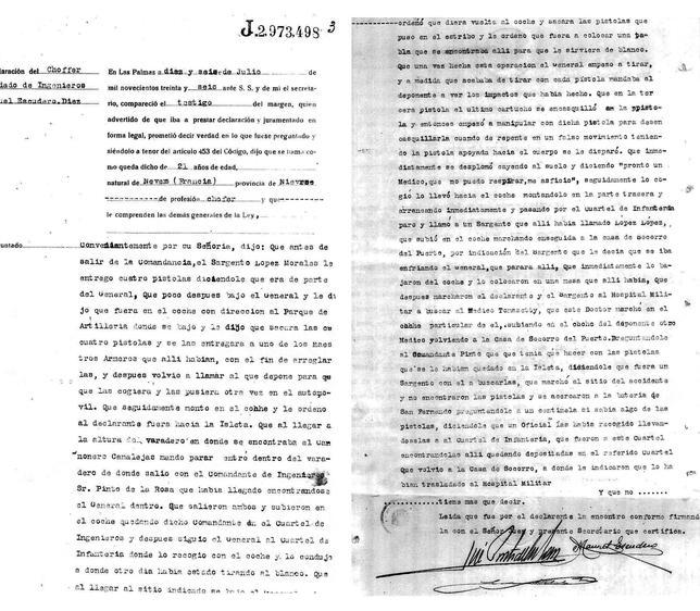 Los documentos estaban en un archivo de las clases pasivas del Ejército en Madrid