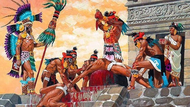 Las Crueles Torturas De Los Caníbales Aztecas A La Caravana De
