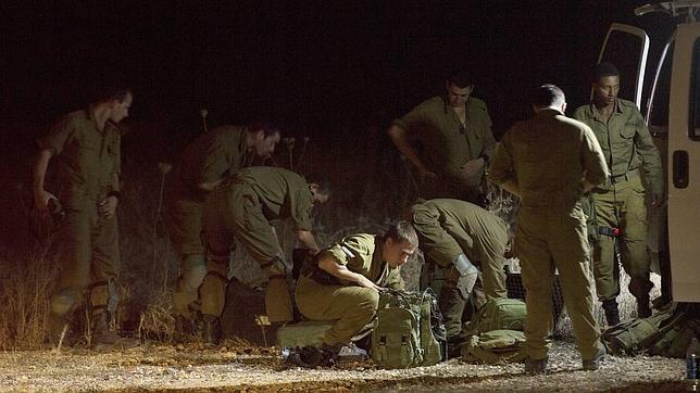 Un grupo de militares israelís durante la operación de búsqueda en los Altos del Golán