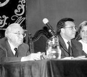 Leopoldo de Luis, a la izquierda, estará en Talavera el próximo jueves. A. Martínez