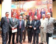 Autoridades, académicos y cervantistas durante la presentación del Foro. Ó. Huertas