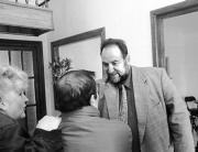 Trillo abandona la rueda de prensa seguido del ministro portavoz. Daniel G. López