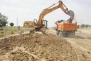 En la imagen, las máquinas empleadas para la realización de los trabajos. J. R. C.