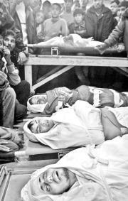 Funerales en Rafah (Gaza), ayer, de cuatro palestinos abatidos por el Ejército REUTERS