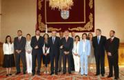 EFE  Touriño, junto con los trece consejeros del «gobierno del cambio»