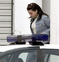 María José Campanario, en el momento de ser conducida al Juzgado. Efe