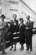 Jesús Bal y Gay (derecha), junto a Rosita García Ascot, Vera e Igor Stravinsky, fotografiados en México en 1948 (Archivo Residencia de Estudiantes)