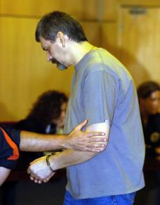EFE  El asesino, durante el juicio