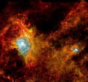 El Herschel capta el nacimiento de 700 estrellas a mil años luz de la Tierra