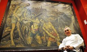 Con Guerrero en el salón