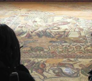 Los mosaicos son el principal referente de La Olmeda. FERNANDO BLANCO