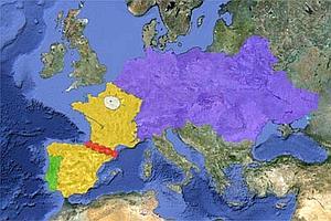 El mapa de Europa a lo Marge Simpson