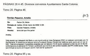El correo de Nuria Parlón a la jefa de Gabinete del entonces alcalde de Santa Coloma en el que le instaba a «hacer algo»