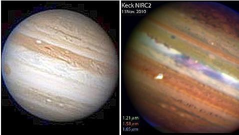 Júpiter recupera una banda