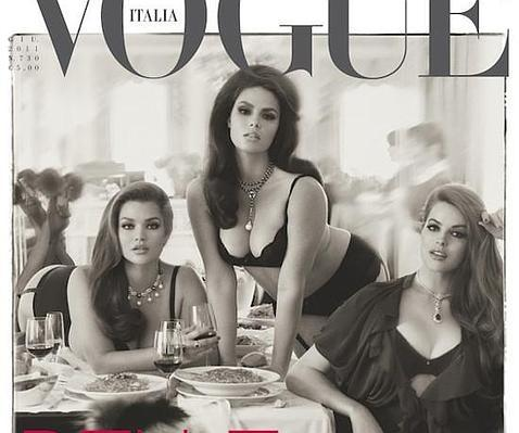 Curvas de portada en «Vogue Italia»