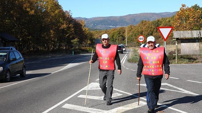 El alcalde de Trefacio (Zamora) inicia una marcha de 120 kilómetros a pie
