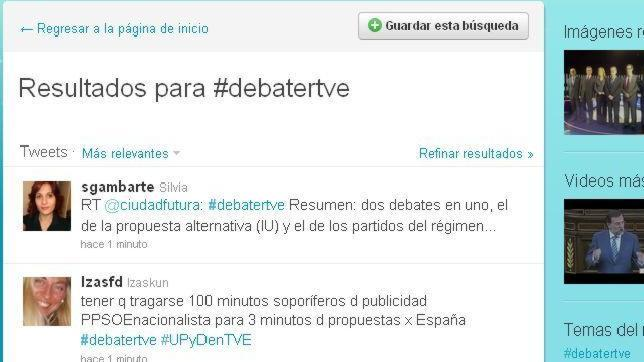 El debate «a cinco» se convierte en el tema estrella en Twitter