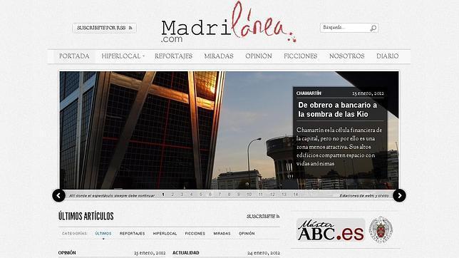Nace madrilanea.com, la web de los alumnos del máster de ABC
