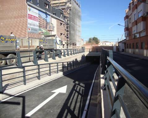 El túnel de la Rondilla se abrirá hoy al tráfico en Alcázar