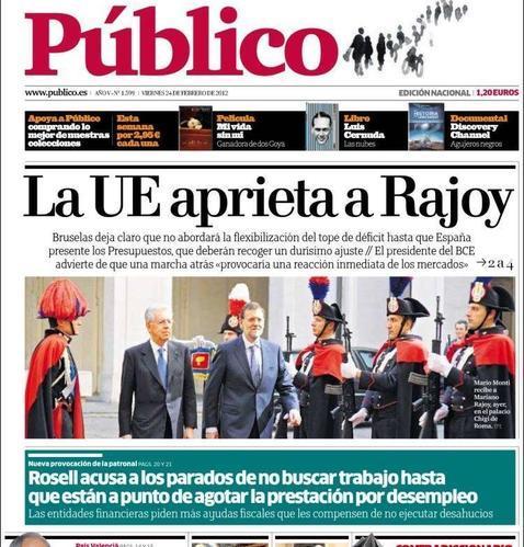 Cierra el diario «Público»