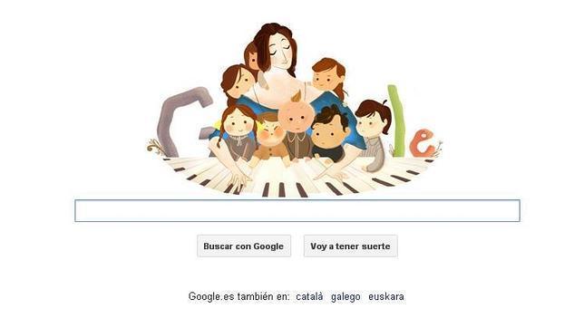 Clara Schumann toca una sinfonía para Google