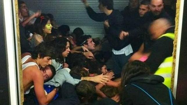 La avalancha en el Madrid Arena se produjo cuando un grupo ...