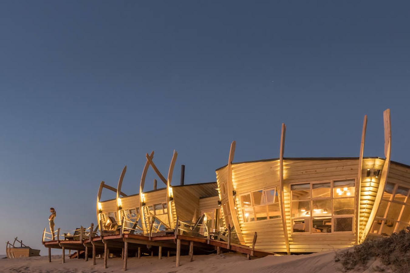 Cabañas de madera de Shipwreck Lodge