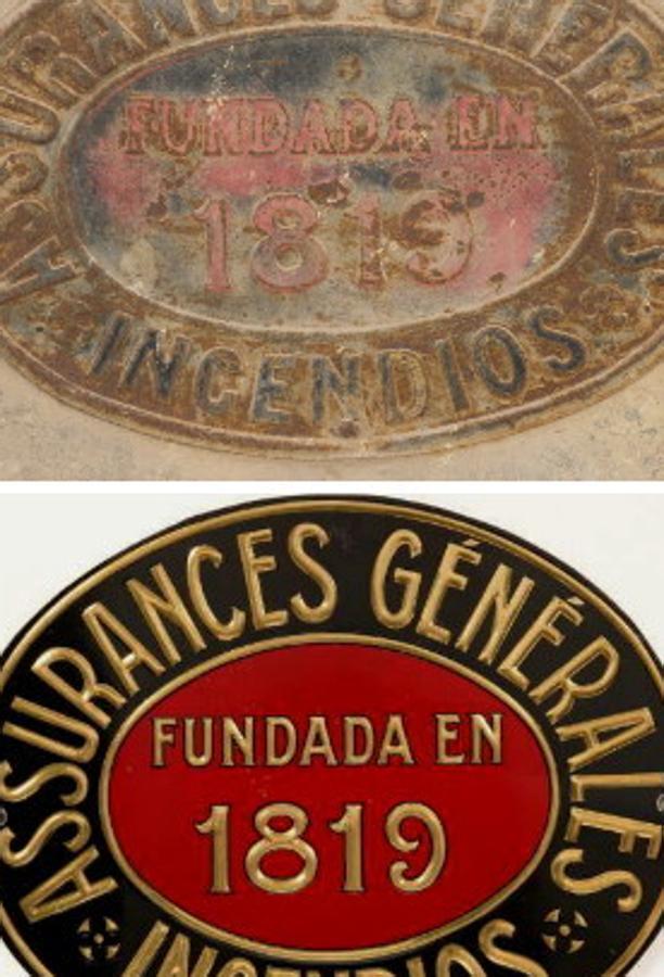 Huella en Toledo de Assurances Générales, compañía de origen francés. FOTO RAFAEL DEL CERRO