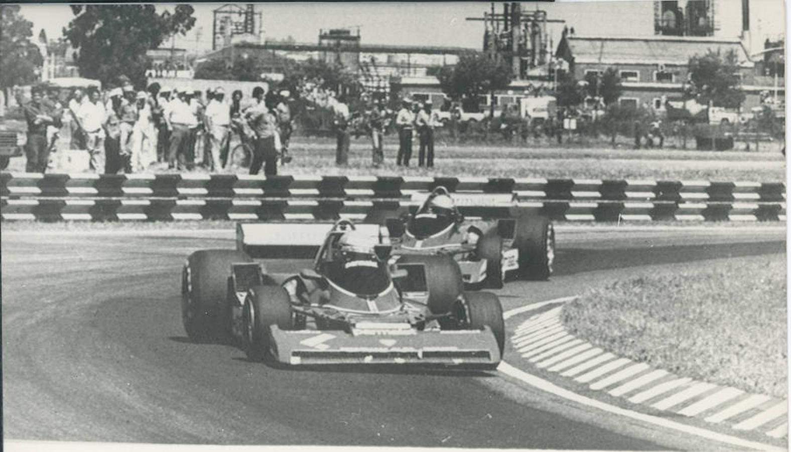 Lauda, durante el Gran Premio de Argentina en 1977