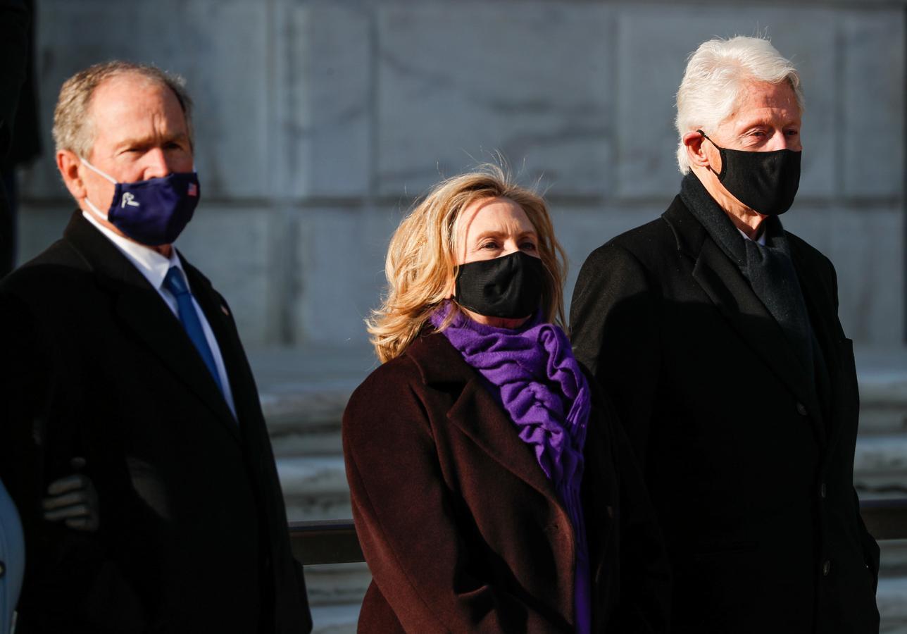 El matrimonio Clinton ha acudido a la investidura